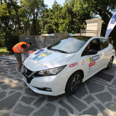 Nissan Leaf al Mahle Eco Rally