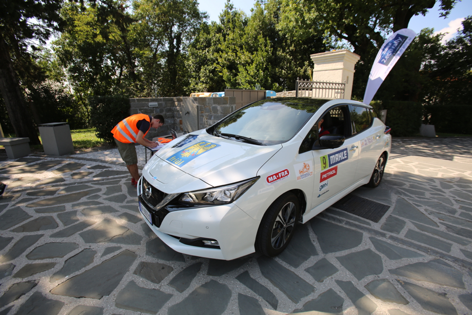 Nissan Leaf al Mahle Eco Rally